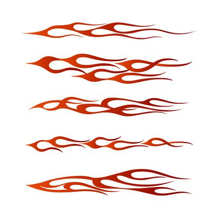 Tribal voertuig afbeelding, vlam voertuig grafische wrap ontwerp Stock Illustratie