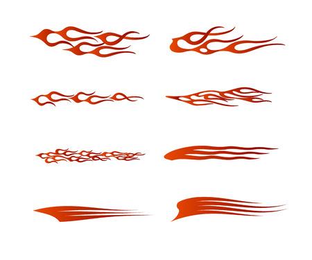부족 차량 그래픽, 불꽃 차량 그래픽 랩 디자인