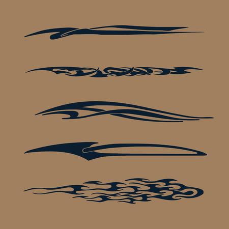車、オートバイ レース車両グラフィック、部族のビニール ・ デカール  イラスト・ベクター素材