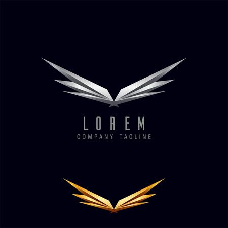 Luxusflügel Logo. Technologie Standard-Bild - 83312824