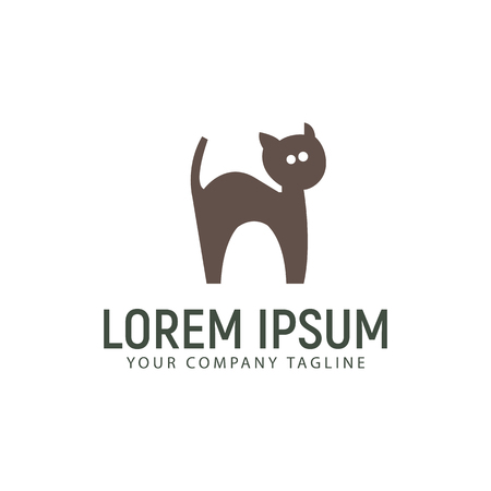 cat care logo design concept template