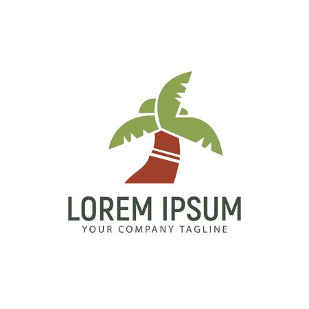 palm logo ontwerpsjabloon van het concept
