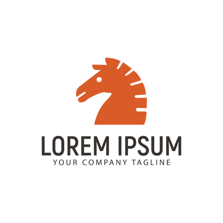 head horse logo design concept template