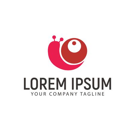 カタツムリのロゴ デザイン コンセプト テンプレート