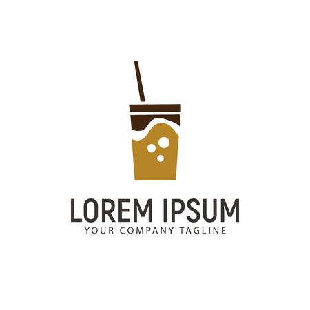 drink soda logo design concept template