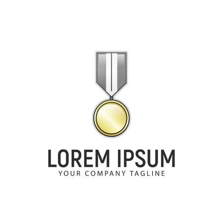 Medal logo design concept template Illustration