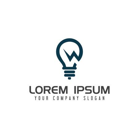 電球電気ロゴ デザイン コンセプト テンプレート