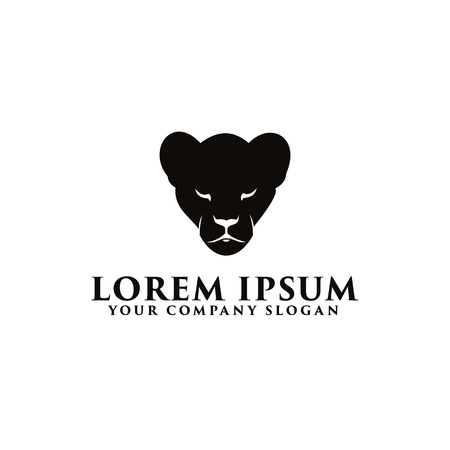 black panther logo design concept template