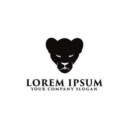 Entwurfsvorlage für schwarzes Panther-Logo Standard-Bild - 83614839