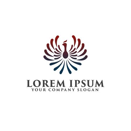 フェニックスのロゴ デザイン コンセプト テンプレート