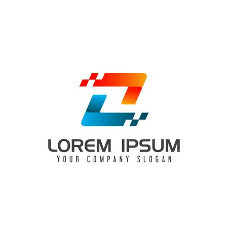 文字 z ロゴ、技術ロゴ デザイン コンセプト テンプレート