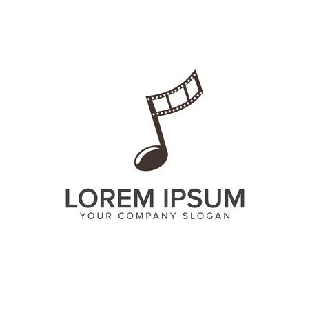 film industry: Entertainment music video logo design concept template