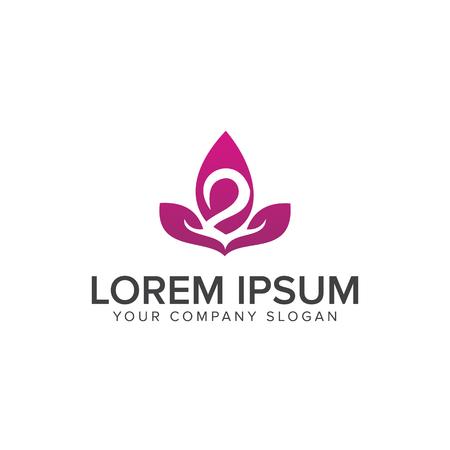 flower swan logo design concept template Stock Vector - 83614903
