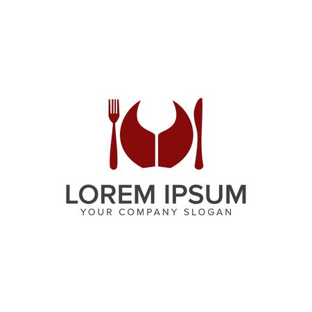 Food Drink Logo design concept template