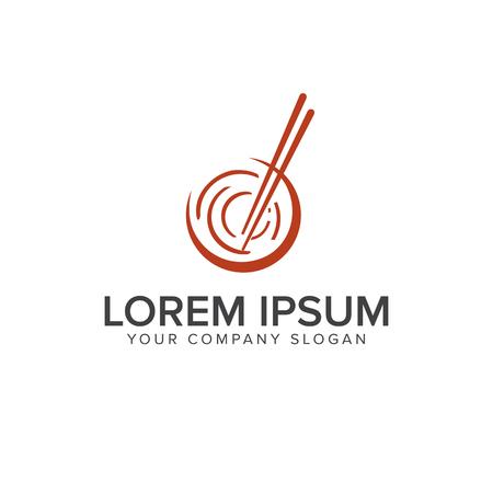 modèle de concept de conception de logo de sushi Logo
