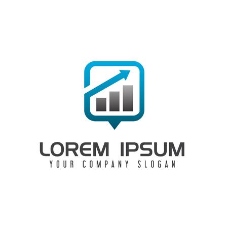 Plantilla de concepto de diseño de logotipo de negocio de gráfico de datos Foto de archivo - 83614936