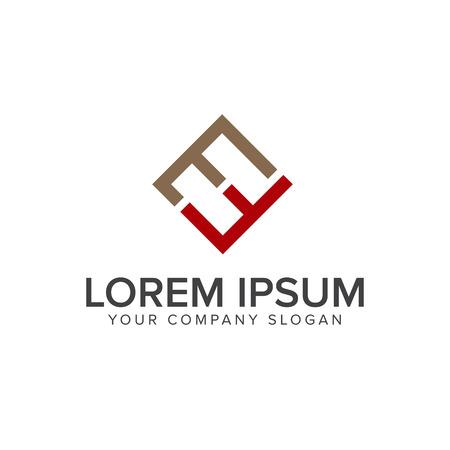Letter EF logo design concept template