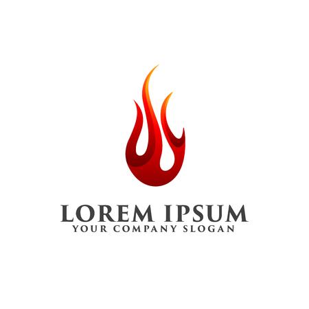 fire drop logo design concept template 向量圖像