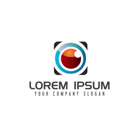 lens Camera logo design concept template Ilustração