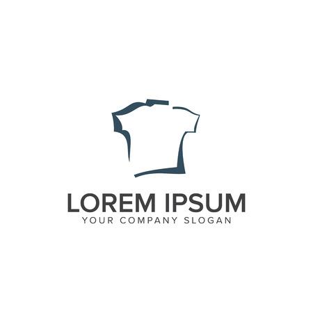 shirt logo design concept template Çizim