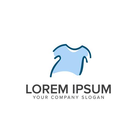 shirt logo design concept template Ilustração