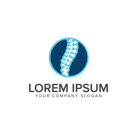 Medical bone logo design concept template