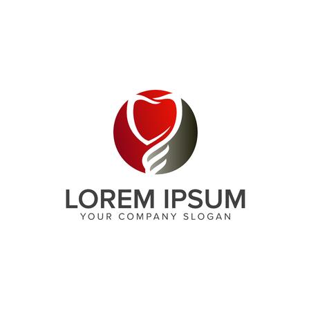 歯科のロゴのデザイン コンセプトのテンプレート