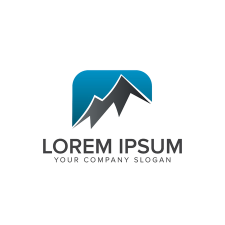 mountain logo design concept template Ilustracja