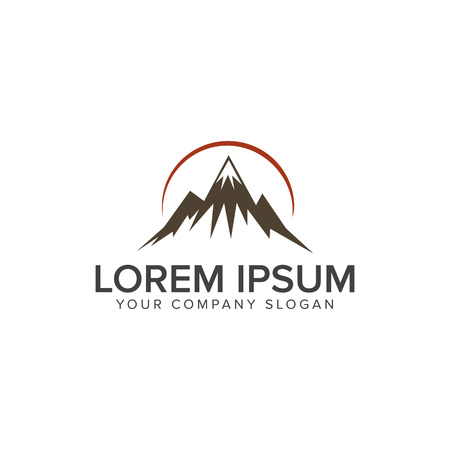 Mountain logo design concept template