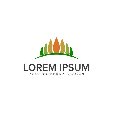 Gardening Logo tree leaf design concept template