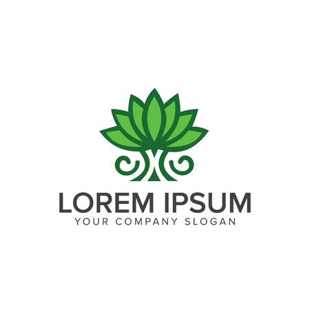 Lily flower logo design concept template Ilustracja