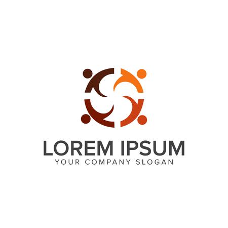 Education people logos design concept template Illustration