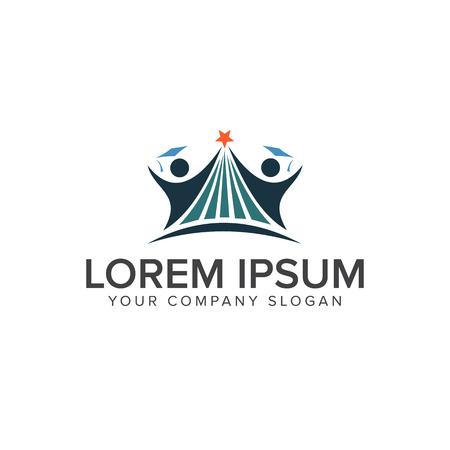 Education people Logos design concept template
