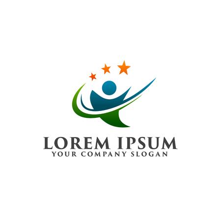 affaires et des conseils de la société avec le modèle de logo de l & # 39 ; étoile modèle. modèle de conception de logo Logo