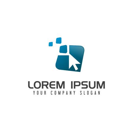 Pointer logo. internet Technology logo design concept template