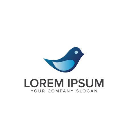 Bird logo design concept template