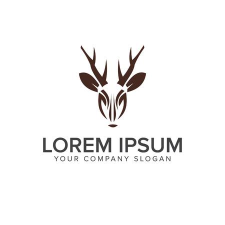 Deer logo design concept template