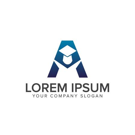 initial cap: Letter A Education Logo design concept template