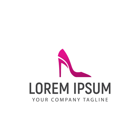 Woman Shoes logo design concept template