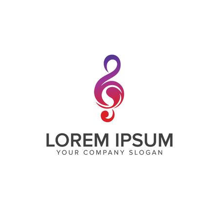 Music tones logo design concept template