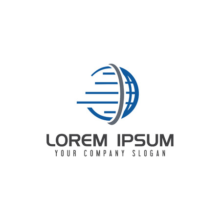 Globe Logistic Logo design concept template Stock fotó - 83615430