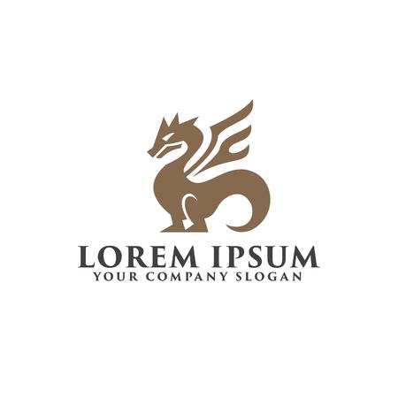 Dragon logo. Luxury design concept template Illustration