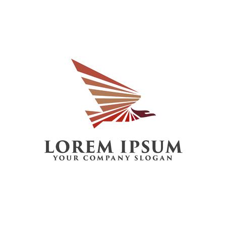Eagle Bird logo design concept template