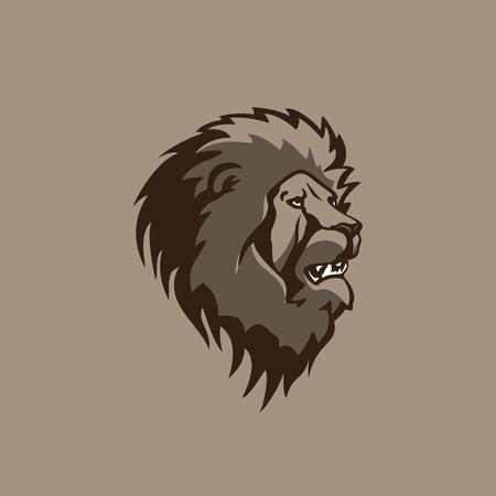 Conception de lion tête illustration vectorielle. Banque d'images - 84564700