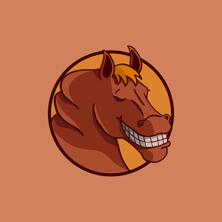 smile horse illustration vector design. Ilustrace