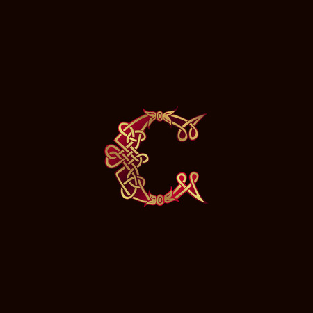 luxe letter C decoratie Logo ontwerpsjabloon concept