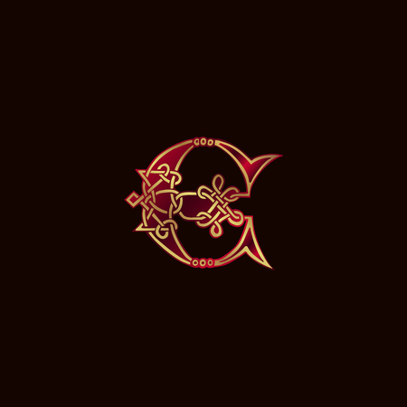 luxury letter E Decoration Logo design concept template