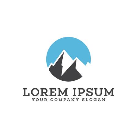 berg logo ontwerp concept sjabloon Stock Illustratie