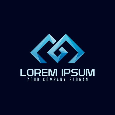 Modern Letter M Logo design concept template.