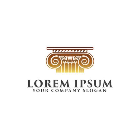 法律のロゴ デザイン コンセプト テンプレート